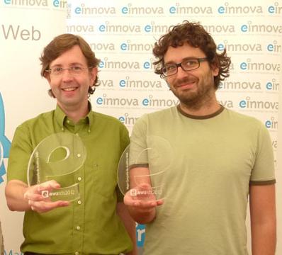 Antoni Biada i Jordi Rosell, d'Einnova, premiats al 2011 i 2012 amb els eAwards.