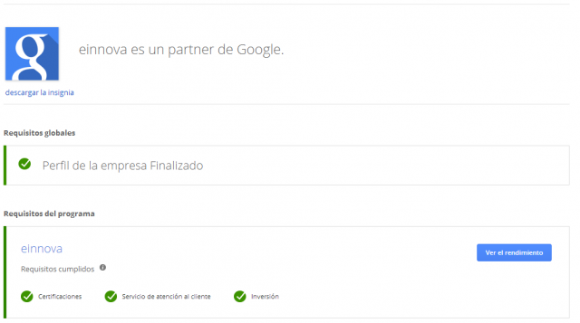 Google Partners - Company Certifications