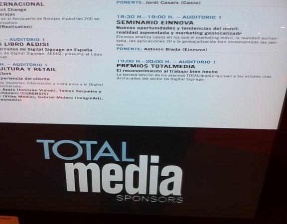 Einnova Seminario total media sponsors