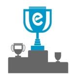 Icono representativo del éxtio con un pódium y unas copas con Einnova como ganador