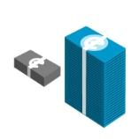 Icono representativo de pilas de dinero