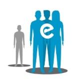 Icono representativo de personas visitando a alguien aislado