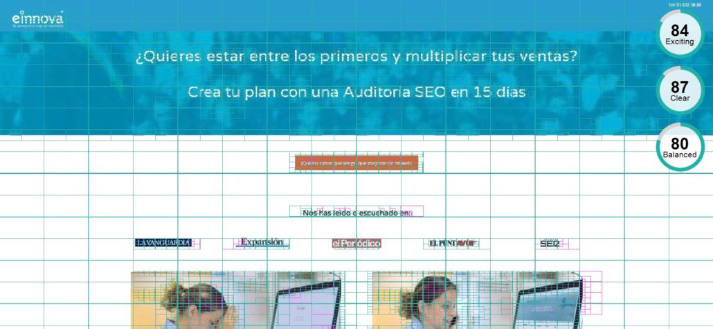 Esquema de cuadrícula de una página web