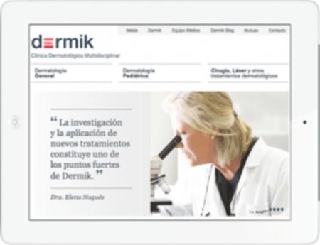 Imagen de la web de Dermik tras contratar los servicios de Auditoría SEO y SEO