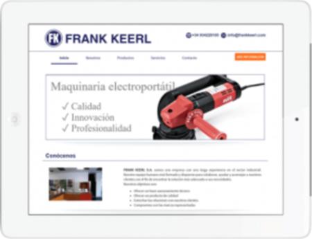 Imagen de la web de frankkeerl tras contratar el servicio de creación y diseño de web corporativa