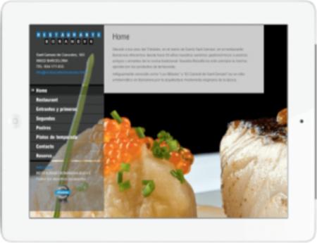 Imagen de la web del restaurante Bonanova tras contratar los servicios con Neuromarketing