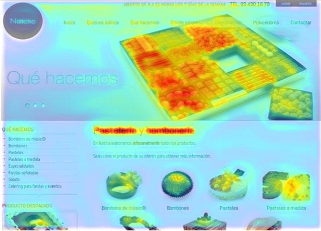 Ejemplo mapa Fijación web Natcha después NeuroMarketing