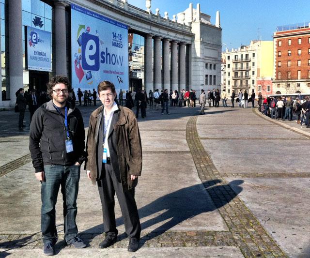 Antoni BIada y Jordi Rosell, de Einnova, a las puertas del eShow Barcelona